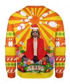 the big lebowski hippie all over printed ugly christmas sweater 5