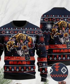 the chicago bears football team christmas ugly sweater 2 - Copy