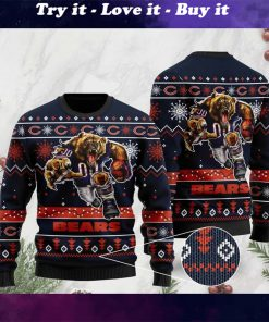 the chicago bears football team christmas ugly sweater
