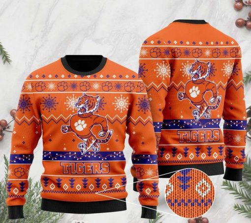 the clemson tigers football christmas ugly sweater 2