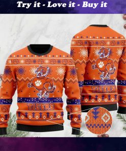 the clemson tigers football christmas ugly sweater
