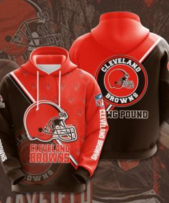 the cleveland browns football team full printing hoodie 1