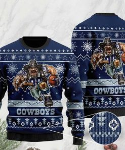 the dallas cowboys football team christmas ugly sweater 2