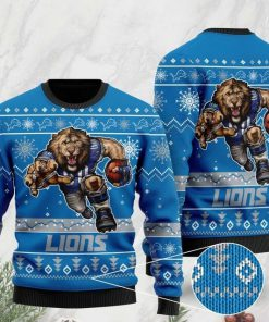 the detroit lions football team christmas ugly sweater 2