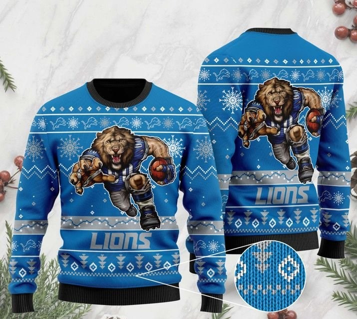 the detroit lions football team christmas ugly sweater 2 - Copy