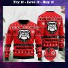 the georgia bulldogs football christmas ugly sweater