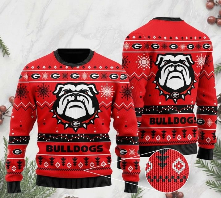 the georgia bulldogs football christmas ugly sweater 2 - Copy