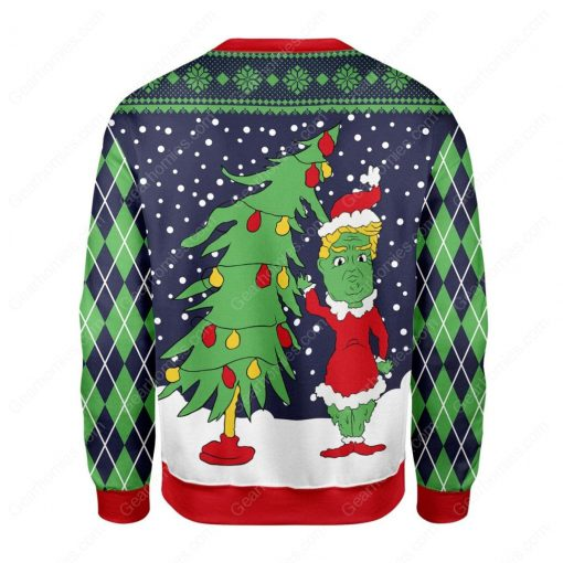 the grinch and christmas tree all over printed ugly christmas sweater 4