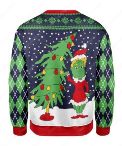 the grinch and christmas tree all over printed ugly christmas sweater 5