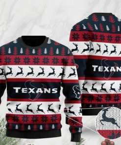 the houston texans football team christmas ugly sweater 2