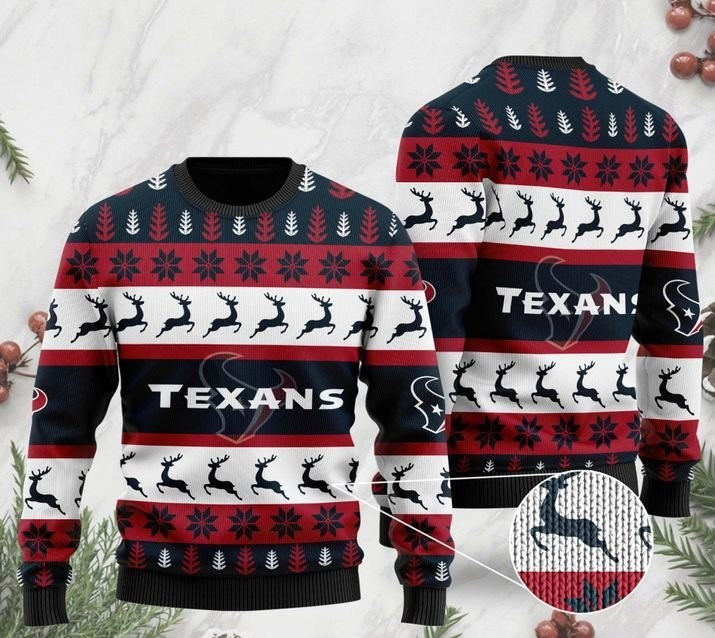 the houston texans football team christmas ugly sweater 2 - Copy