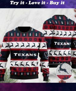 the houston texans football team christmas ugly sweater