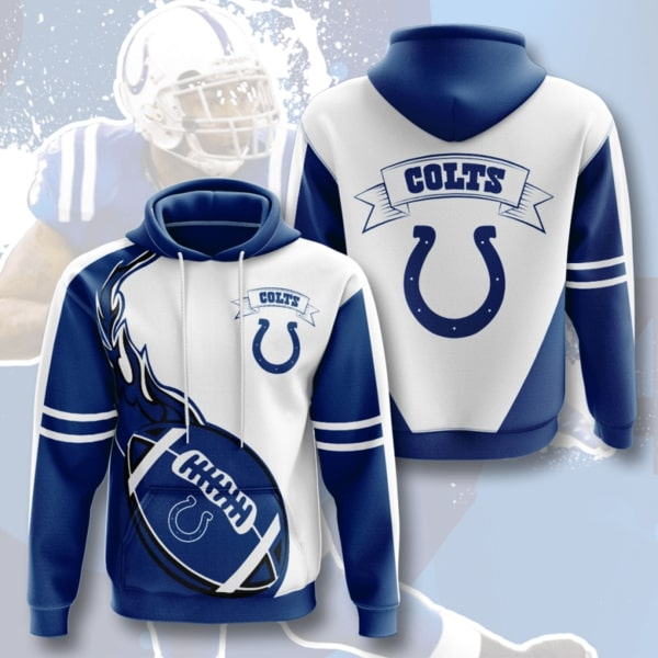 the indianapolis colts football team full printing hoodie