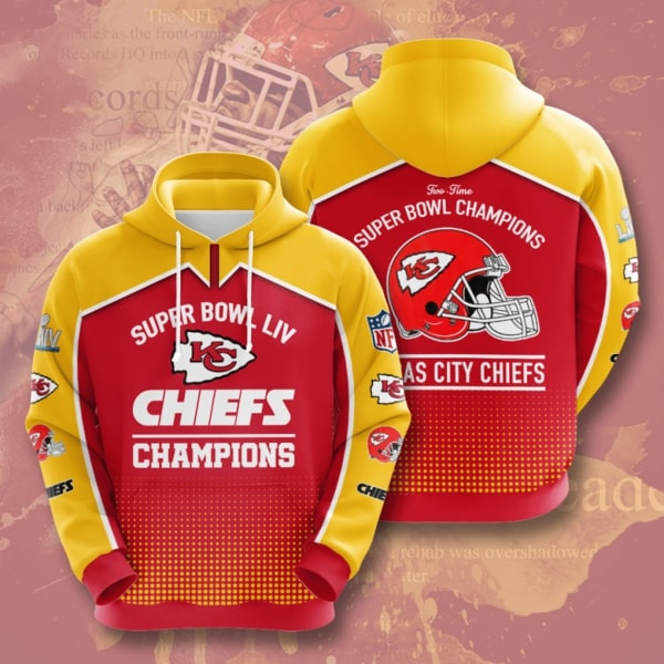 the kansas city chiefs super bowl champions full printing hoodie 1