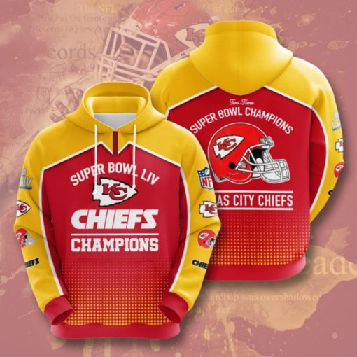 the kansas city chiefs super bowl champions full printing hoodie