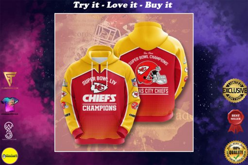 the kansas city chiefs super bowl champions full printing shirt