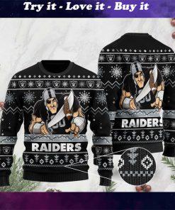 the las vegas raiders football team christmas ugly sweater