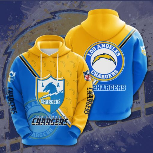 the los angeles chargers football team full printing hoodie