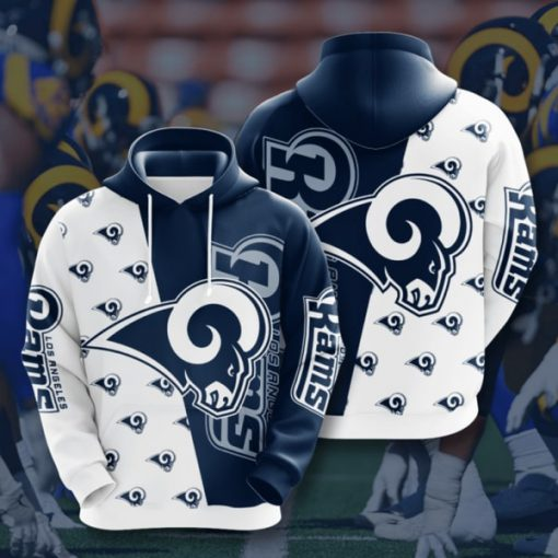 the los angeles rams football team full printing hoodie 1