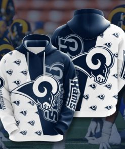 the los angeles rams football team full printing hoodie