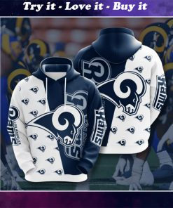 the los angeles rams football team full printing shirt