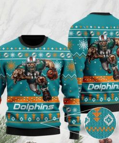 the miami dolphins football team christmas ugly sweater 2 - Copy (2)