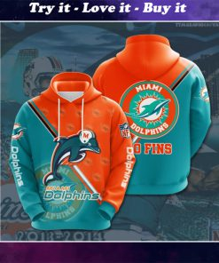 the miami dolphins football team full printing shirt