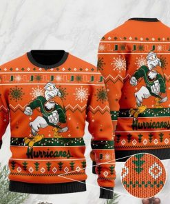the miami hurricanes football christmas ugly sweater 2 - Copy