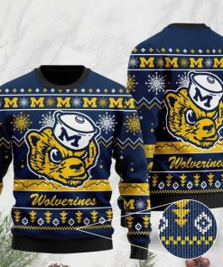 the michigan wolverines football christmas ugly sweater 2 - Copy (2)