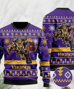 the minnesota vikings football team christmas ugly sweater 2