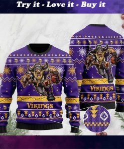 the minnesota vikings football team christmas ugly sweater