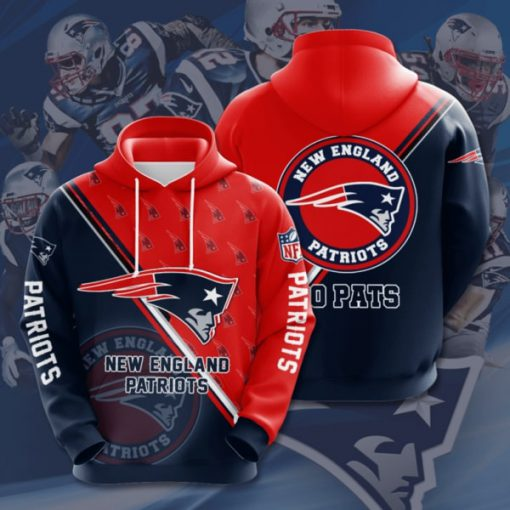 the new england patriots football team full printing hoodie