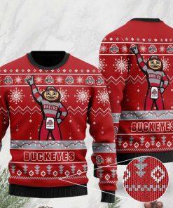 the ohio state buckeyes football team christmas ugly sweater 2