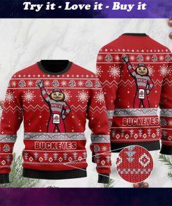 the ohio state buckeyes football team christmas ugly sweater