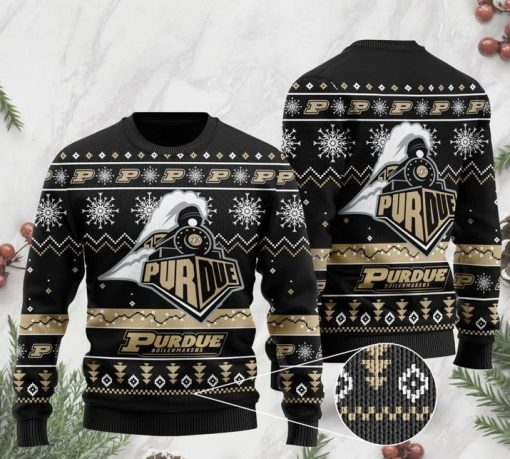 the purdue boilermakers football christmas ugly sweater 2