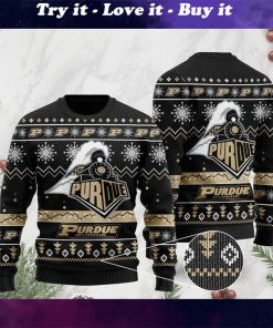 the purdue boilermakers football christmas ugly sweater