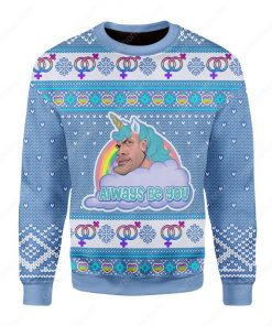 the rock dwayne johnson always be you all over printed ugly christmas sweater 2