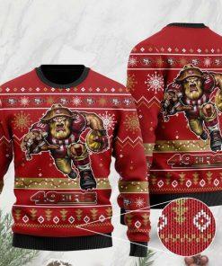 the san francisco 49ers football team christmas ugly sweater 2 - Copy (2)