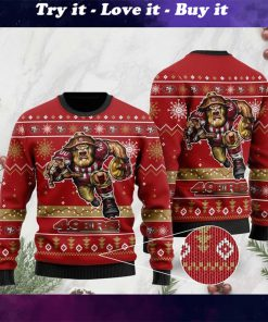 the san francisco 49ers football team christmas ugly sweater