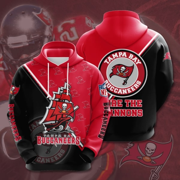 the tampa bay buccaneers football team full printing hoodie 1