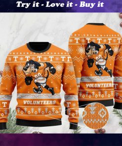 the tennessee volunteers football christmas ugly sweater