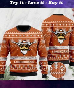 the texas longhorns football christmas ugly sweater