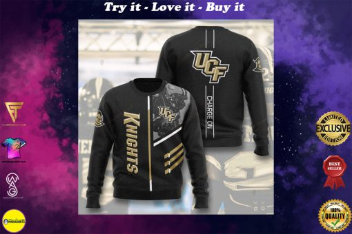 ucf knights football charge on full printing ugly sweater
