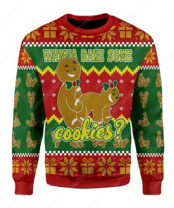 wanna bake some cookies all over printed ugly christmas sweater 3