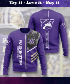 washington huskies football purple reign full printing ugly sweater