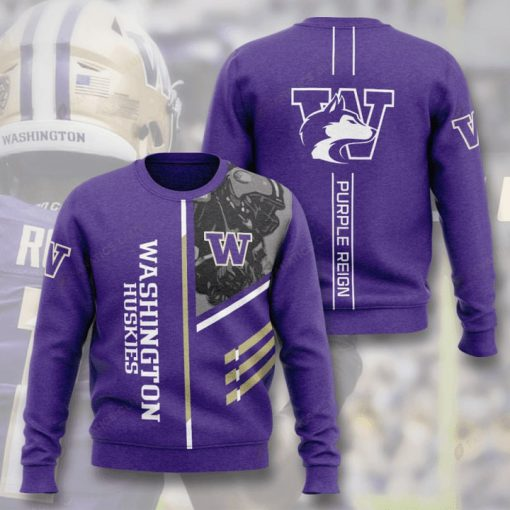 washington huskies football purple reign full printing ugly sweater 3