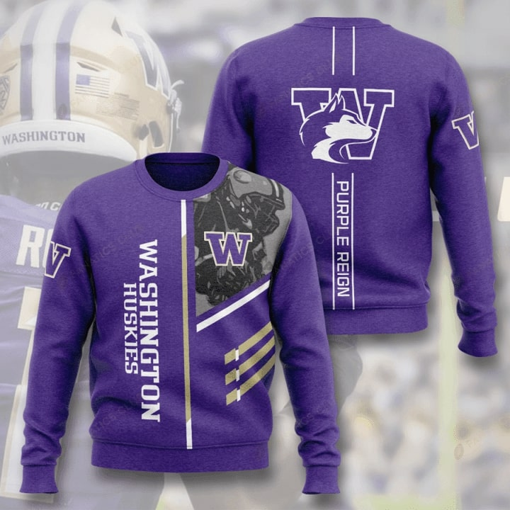 washington huskies football purple reign full printing ugly sweater 4