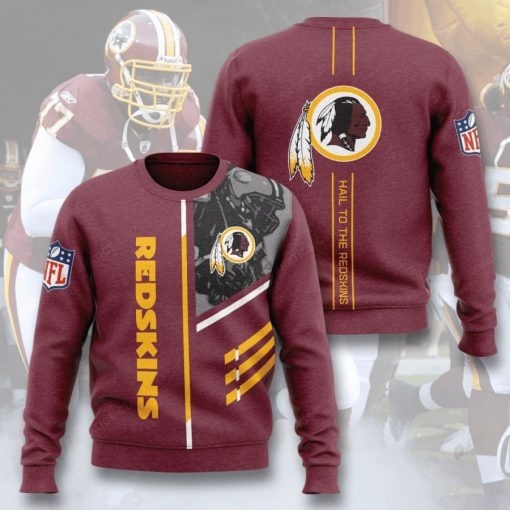 washington redskins hail to the redskins full printing ugly sweater 2