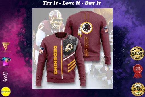 washington redskins hail to the redskins full printing ugly sweater