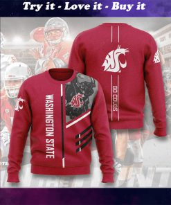 washington state cougars football go cougs full printing ugly sweater